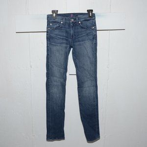 7 For all mankind skinny girls jeans size 14